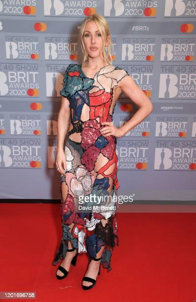 Ellie Goulding attends The BRIT Awards 2020 at The O2 Arena on February 18, 2020 in London, England.