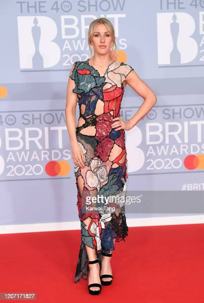 Ellie Goulding attends The BRIT Awards 2020 at The O2 Arena on February 18 2020 in London England