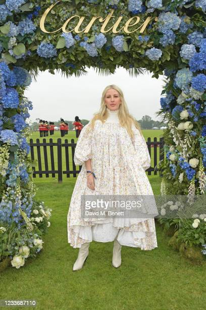 Ellie Goulding attends the Cartier Queen's Cup Polo 2021 at Guards Polo Club on June 27, 2021 in Egham, England.