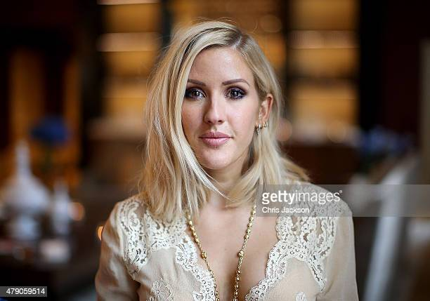 Ellie Goulding attends the celebration of Marriott International's and Universal Music Group's global marketing partnership, at the St Pancras...
