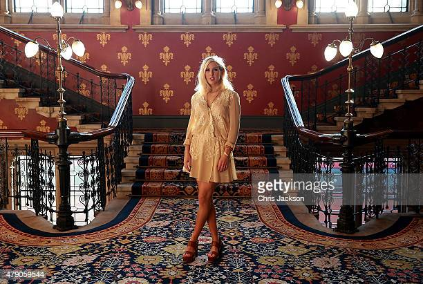 Ellie Goulding attends the celebration of Marriott International's and Universal Music Group's global marketing partnership at the St Pancras...