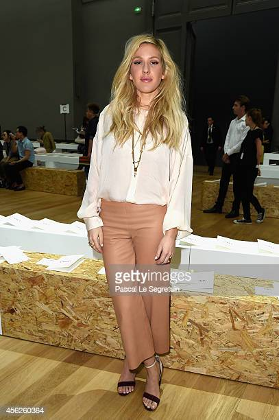 Ellie Goulding attends the Chloe show as part of the Paris Fashion Week Womenswear Spring/Summer 2015 on September 28 2014 in Paris France