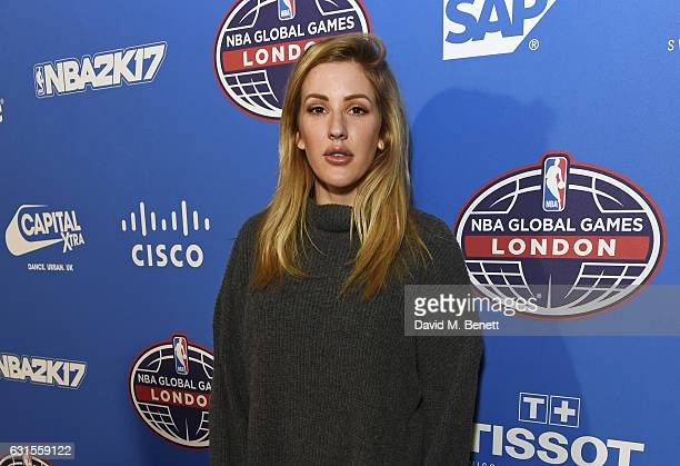 Ellie Goulding attends the Denver Nuggets v Indiana Pacers game during NBA Global Games London 2017 at The O2 Arena on January 12 2017 in London...