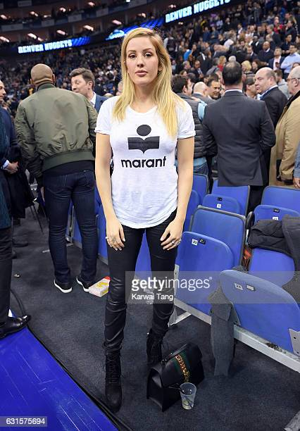 Ellie Goulding attends the Denver Nuggets v Indiana Pacers match as part of the NBA Global Games London 2017 at The O2 Arena on January 12 2017 in...