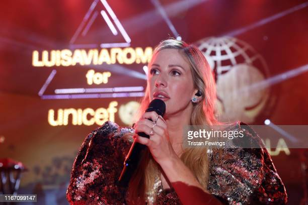 Ellie Goulding attends the dinner at the Unicef Summer Gala Presented by Luisaviaroma at on August 09, 2019 in Porto Cervo, Italy.