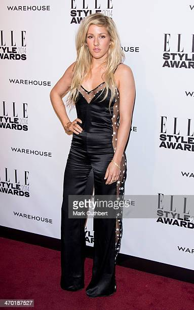 Ellie Goulding attends the Elle Style Awards 2014 at one Embankment on February 18 2014 in London England