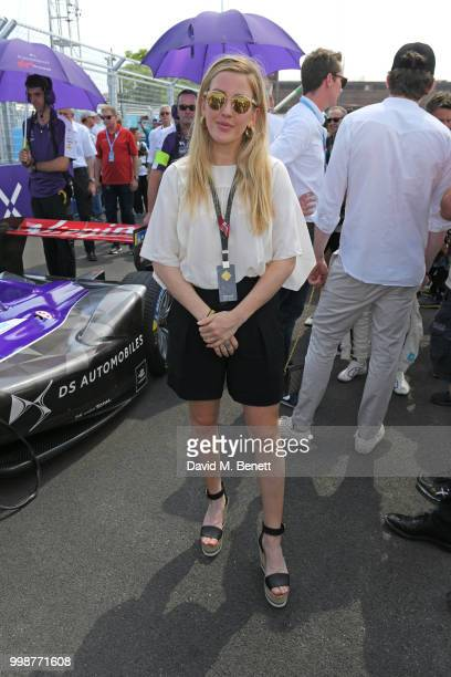 Ellie Goulding attends the Formula E 2018 Qatar Airways New York City E-Prix, the double header season finale of the 2017/18 ABB FIA Formula E...