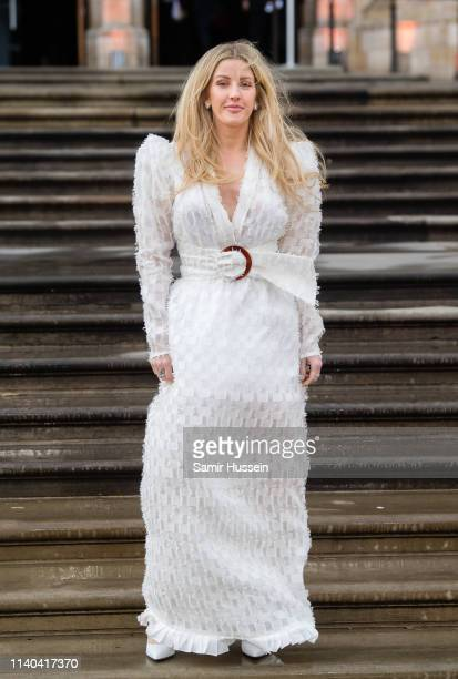 Ellie Goulding attends the Our Planet global premiere at Natural History Museum on April 04 2019 in London England