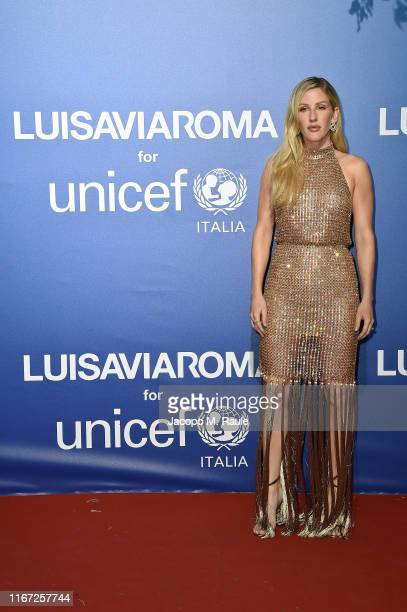 Ellie Goulding attends the photocall at the Unicef Summer Gala Presented by Luisaviaroma at on August 09, 2019 in Porto Cervo, Italy.