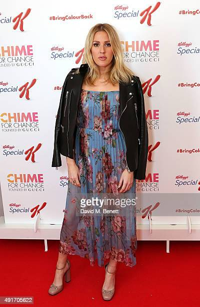 Ellie Goulding attends the Special K Bring Colour Back launch at The Hospital Club on October 7 2015 in London England