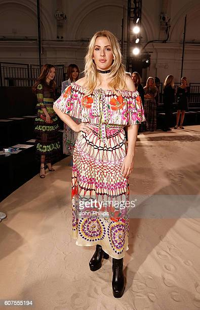 Ellie Goulding attends the Temperley show during London Fashion Week Spring/Summer collections 2017 on September 18 2016 in London United Kingdom