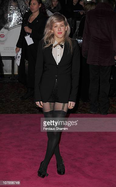 Ellie Goulding attends the UK premiere of 'Burlesque' at Empire Leicester Square on December 13 2010 in London England