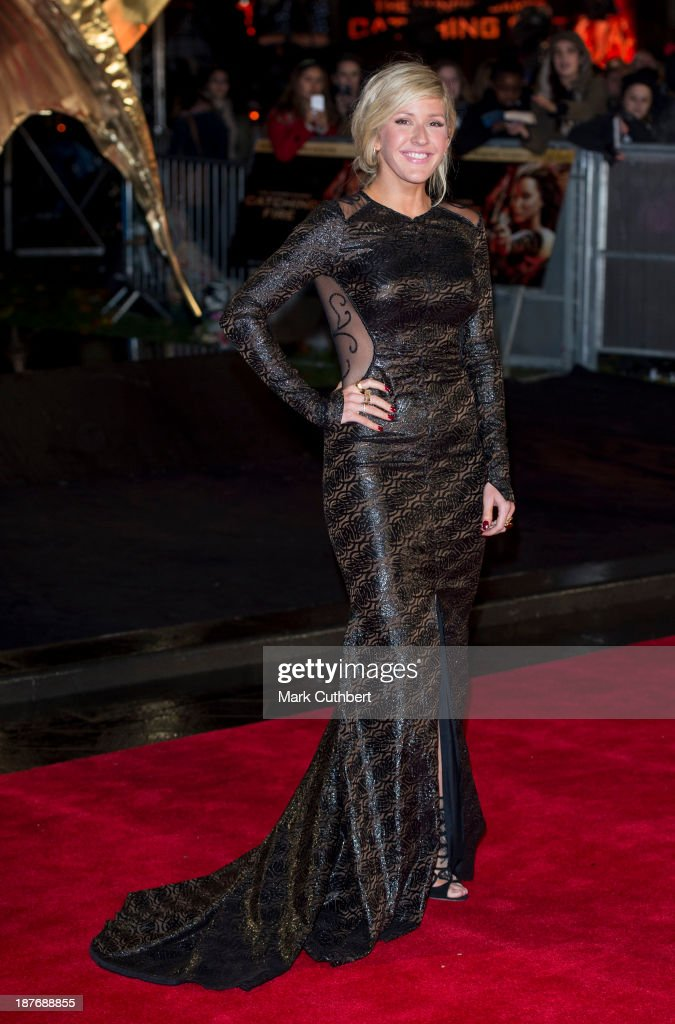 Ellie Goulding attends the UK Premiere of 'The Hunger Games: Catching Fire' at Odeon Leicester Square on November 11, 2013 in London, England.