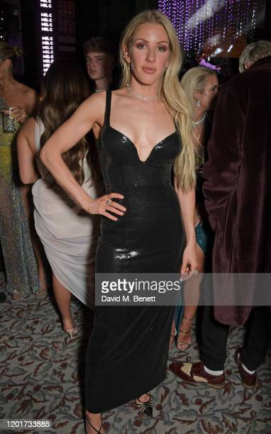 Ellie Goulding attends the Universal Music BRIT Awards after-party 2020 hosted by Soho House & PATRON at The Ned on February 18, 2020 in London,...