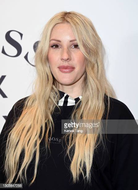 Ellie Goulding attends the unveiling of the new BOSS x Anthony Joshua Collection on February 24, 2021 in London, England.