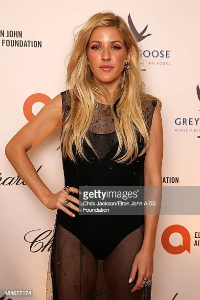 Ellie Goulding attends the Woodside End of Summer party to benefit the Elton John AIDS Foundation sponsored by Chopard and Grey Goose at Woodside on...