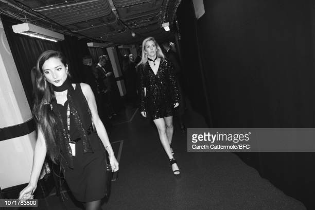 Ellie Goulding backstage at The Fashion Awards 2018 In Partnership With Swarovski at Royal Albert Hall on December 10 2018 in London England