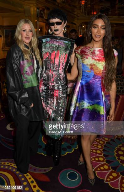 Ellie Goulding, Bimini Bon Boulash and Munroe Bergdorf attend the BFC Changemakers Prize, in partnership with Swarovski, at Annabel's on September...