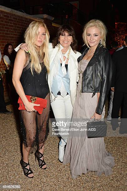 Ellie Goulding, Chrissie Hynde and Pixie Lott attend the Woodside End of Summer party to benefit the Elton John AIDS Foundation sponsored by Chopard...