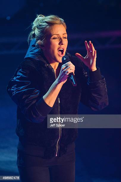 Ellie Goulding during a live broadcast of 'TFI Friday' on November 27 2015 in London England