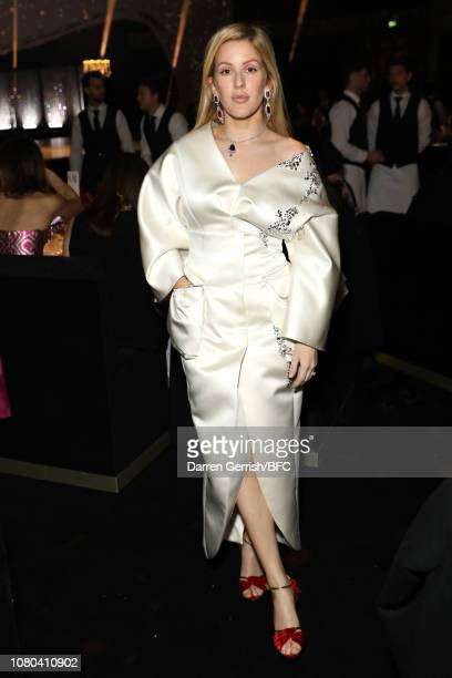 Ellie Goulding during preceremony drinks at The Fashion Awards 2018 In Partnership With Swarovski at Royal Albert Hall on December 10 2018 in London...