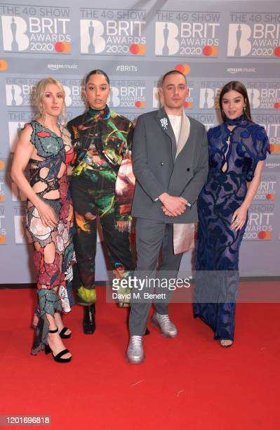 Ellie Goulding Grace Carter Dermot Kennedy and Hailee Steinfeld attend The BRIT Awards 2020 at The O2 Arena on February 18 2020 in London England