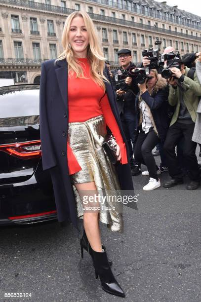 Ellie Goulding is seen arriving at Stella McCartney show during Paris Fashion Week on October 2 2017 in Paris France