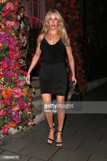 Ellie Goulding is seen at Annabel's member club in Mayfair on August 14 2020 in London England