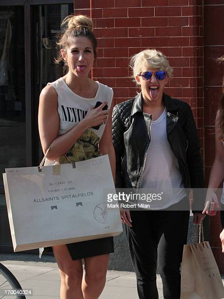 Ellie Goulding is seen shopping at All Saints Spitalfields on June 6 2013 in London England