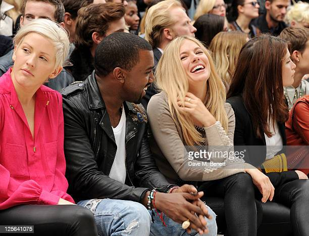 Ellie Goulding Kanye West Sienna Miller and Gemma Arterton attend at the Burberry Spring Summer 2012 Womenswear Show at Kensington Gardens on...