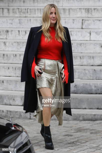 Ellie Goulding leaves the Stella McCartney show as part of the Paris Fashion Week Womenswear Spring/Summer 2018 on October 2 2017 in Paris France