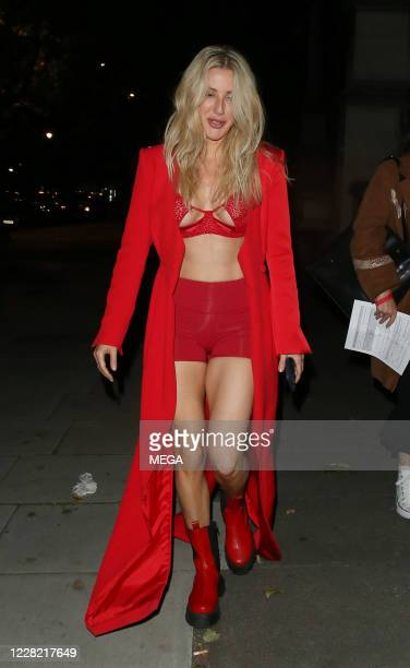 Ellie Goulding leaving The Victoria Albert Museum after performing a private gig on August 26 2020 in London England