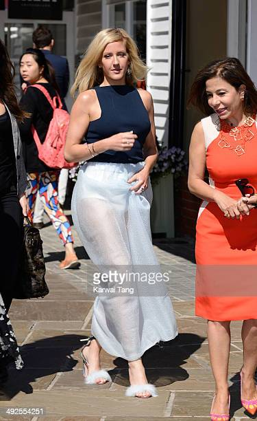 Ellie Goulding opens the British Designer's Collective at Bicester Village on May 21 2014 in Bicester England