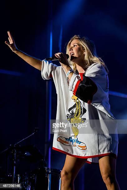 Ellie Goulding performs at Bumbershoot at Seattle Center on September 7 2015 in Seattle Washington