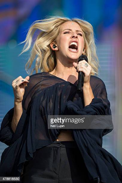 Ellie Goulding performs at Hyde Park on June 27, 2015 in London, United Kingdom
