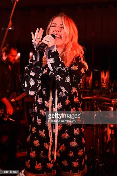 Ellie Goulding performs at the Cartier Fifth Avenue Grand Reopening Event at the Cartier Mansion on September 7 2016 in New York City