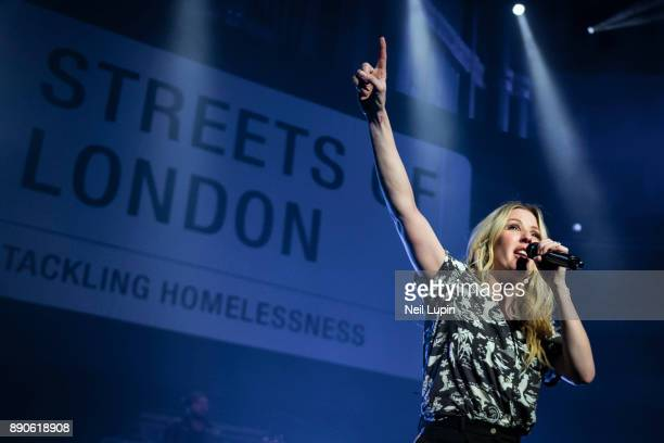 Ellie Goulding performs at the Royal Albert Hall in aid of Streets of London on December 11 2017 in London England