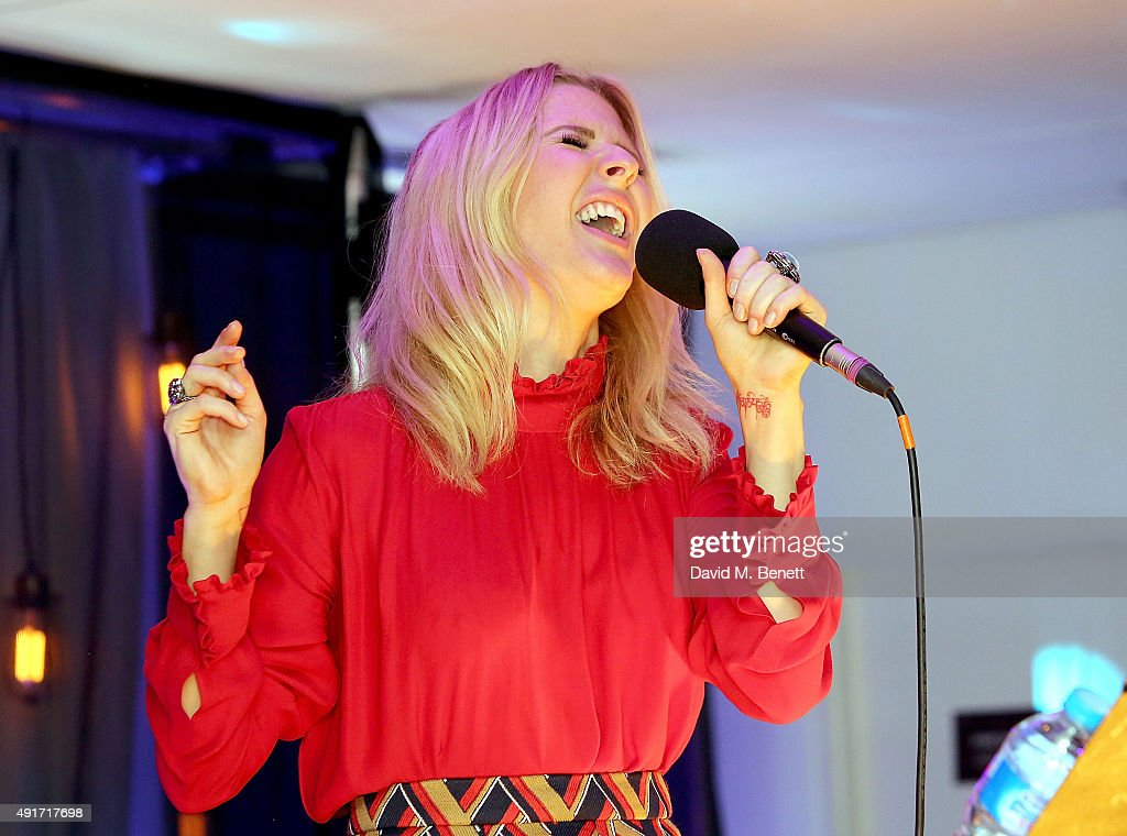 Ellie Goulding performs at the Special K Bring Colour Back launch at The Hospital Club on October 7, 2015 in London, England.