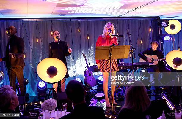Ellie Goulding performs at the Special K Bring Colour Back launch at The Hospital Club on October 7 2015 in London England