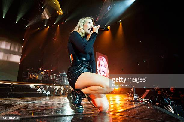 Ellie Goulding performs at The SSE Hydro on March 18 2016 in Glasgow Scotland