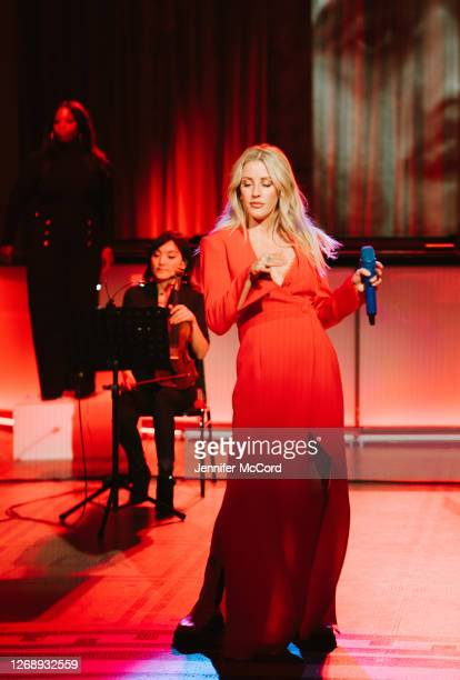 Ellie Goulding performs at The VA on August 26 2020 in London England The performance was live streamed for ticket holders during the COVID19 pandemic