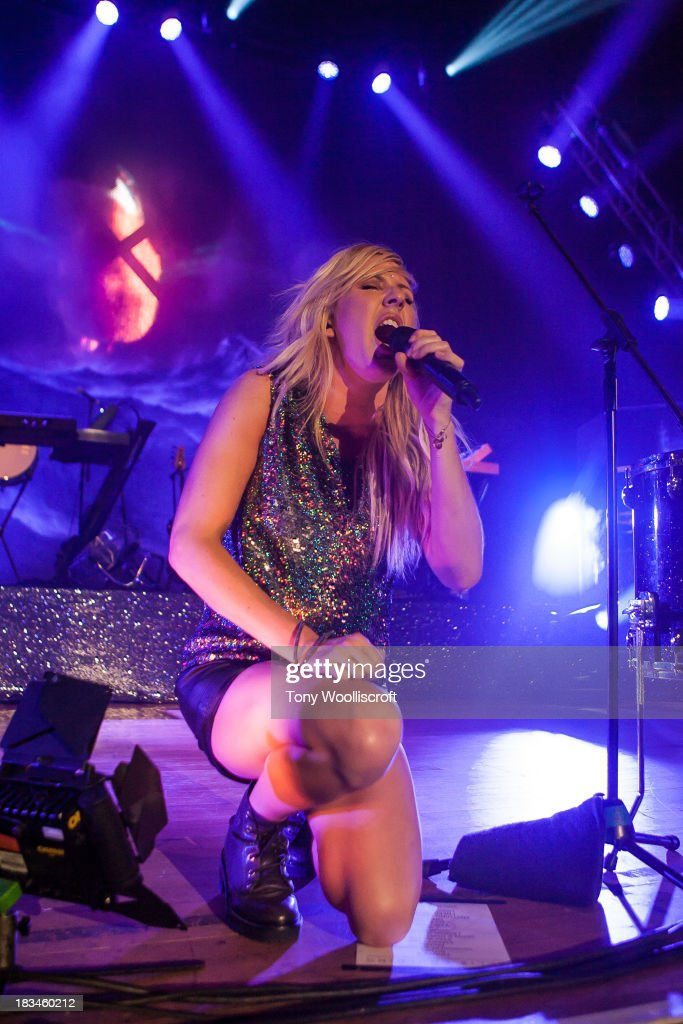 Ellie Goulding performs at Wolverhampton Civic Hall on October 6, 2013 in Wolverhampton, England.