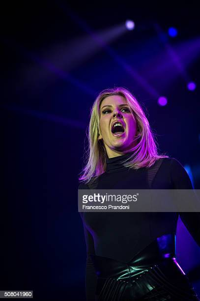 Ellie Goulding performs concert at Mediolanum Forum of Assago on February 1, 2016 in Milan, Italy.