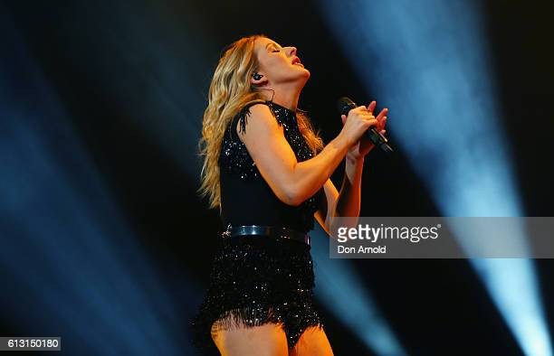 Ellie Goulding performs during her Delirium Tour at Acer Arena on October 7 2016 in Sydney Australia