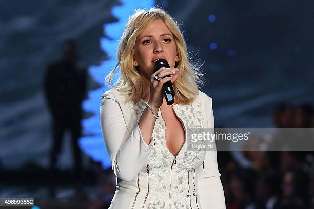 Ellie Goulding performs during the 2015 Victoria's Secret Fashion Show at Lexington Avenue Armory on November 10 2015 in New York City