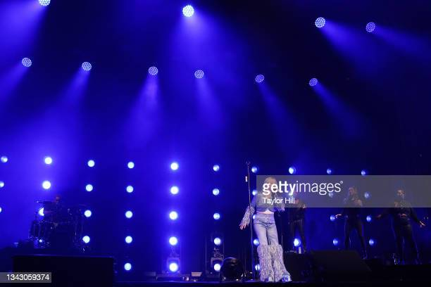 Ellie Goulding performs during the 2021 Governors Ball Music Festival at Citi Field on September 26, 2021 in New York City.
