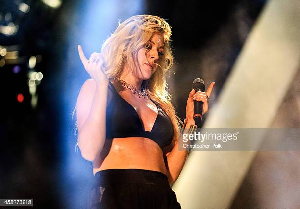 Ellie Goulding performs during the Bacardi Triangle event on November 1 2014 in Fajardo Puerto Rico The event saw 1862 music fans take on one of the...