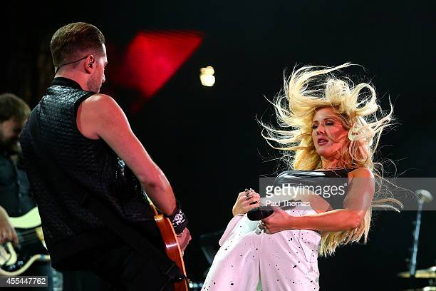 Ellie Goulding performs during the Jaguar Land Rover Invictus Games Closing Ceremony at the South Lawn of Queen Elizabeth Olympic Park on September...