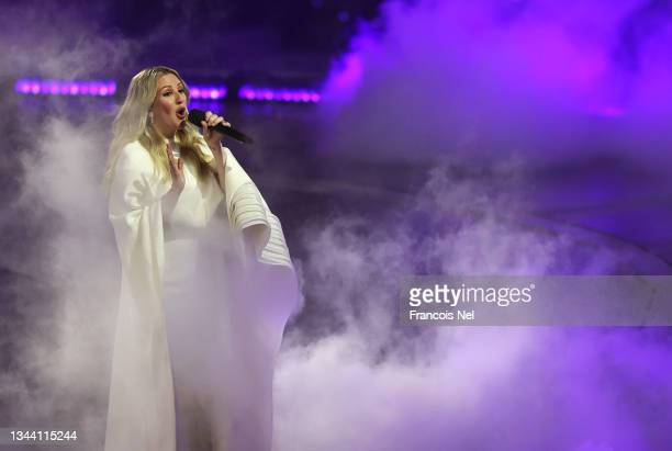 Ellie Goulding performs during the Opening Ceremony of Expo 2020 Dubai on September 30, 2021 in Dubai, United Arab Emirates.
