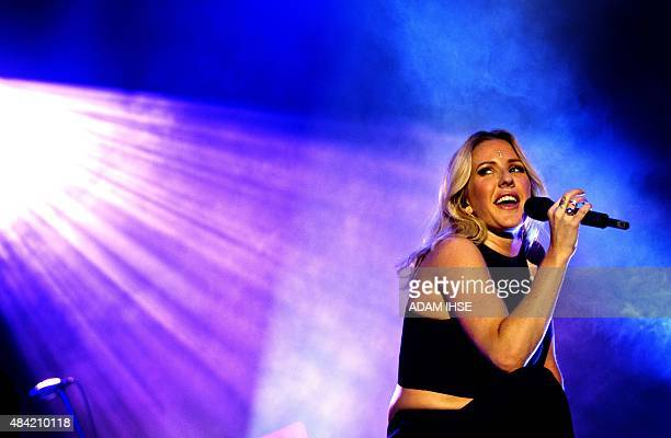 Ellie Goulding performs during the Way Out West rock festival in Gothenburg Sweden on August 15 2015 AFP PHOTO / TT NEWSAGENCY / ADAM IHSE ** SWEDEN...